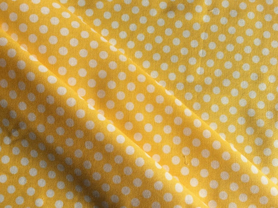 Riley Blake Basics Small Dot C350-50 Yellow 1/2 yard-3/4 yard
