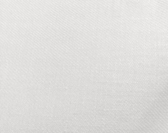 "White High Quality Linen Fabric 3.5 Yards 60"" Wide"