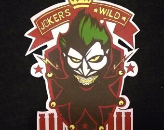 DC Bombshell Harley Quinn Joker's Wild Sticker
