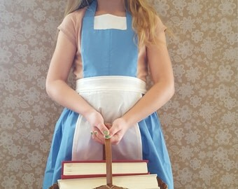 Belle Costume Peasant inspired dress up apron