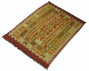 200 x 153 cm  oriental Handmade nomadic chobi kilim from Afghanistan No:63