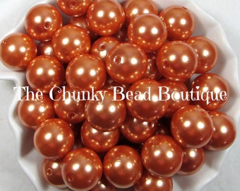 20mm burnt orange resin pearls