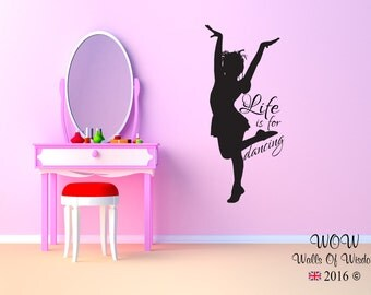 Life is for Dancing Wall Sticker