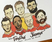 "Wales football Euro 2016 print ""Stronger Together""."