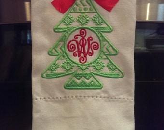 Christmas Tree kitchen Hand Towel
