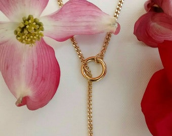 Necklace // SUNNYLUX// golden metal, chain, woman gift, minimal
