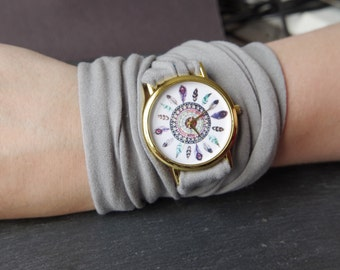 Stretch Wrist watch tattoo cover  Womens Watch Cuff Watches Fashion Accessory Multistrand bracelet Infinity bracelet gift for teen girl