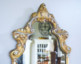 Vintage French Mirror | Decorative Mirror | Hollywood Regency |  Wall Mirror | Vintage Mirror | Vanity Mirror | Bathroom Mirror