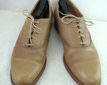 Men's,CLASSY Vintage 60's,Beige Colored Oxford Shoes By LEWIS & CLARK.12