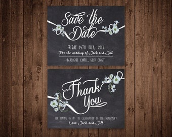 Thank you card and Save the Date Card