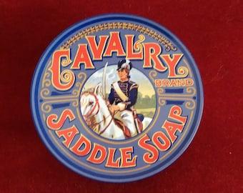 Vintage Cavalry Saddle Soap Tin