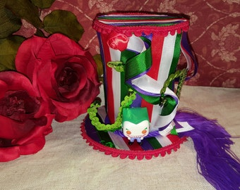 Joker Fascinator Top Hat