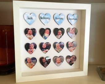Personalised Box Frame / Photo Frame / Picture Frame / Picture Display / Personalised Gift / Photo Gift / home decor