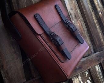 Handmade shoulder leather bag