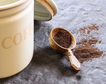 Wooden Coffee Scoop - hand carved in Ireland - made to order