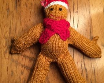 Knitted gingerbread , festive  gingerbread , gingerbread man , festive novelty gift , christmas gift , tree decoration , stocking filler