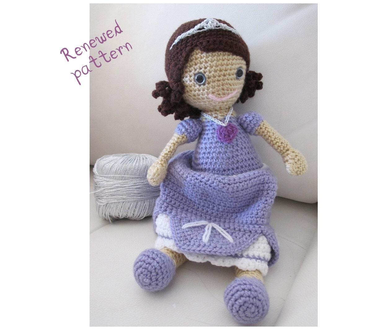 Amigurumi Star Wars Anleitung Kostenlos : Princess Sofia Crochet doll pattern Amigurumi pattern