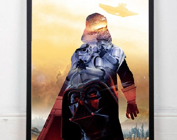 Darth Vader Poster / Star Wars Digital Print / Star Wars Wall Art / Darth Vader Wall Art / Cinema Poster / Film Poster