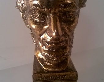 Vintage K & Co. Abraham Lincoln Brass Figurine
