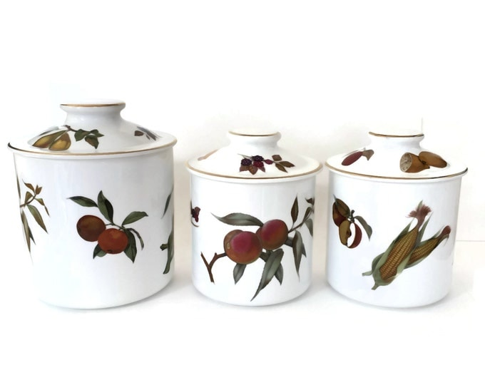 Royal Worcester Evesham Canister Set