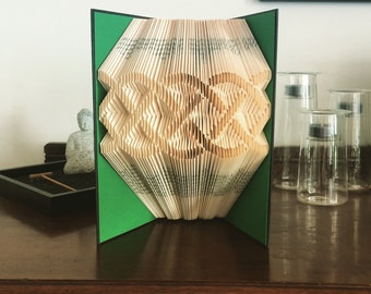 Celtic Ribbon - Folded Book Art Sculpture - Completed Book - Unique Gift