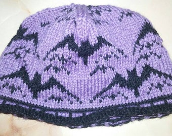 Halloween purple hat with bat mouse kids 5 to 8 years