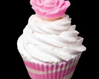 Rose cupcake soap Pink