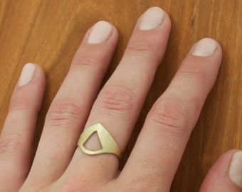 Superhero Ring, Brass Shield Ring
