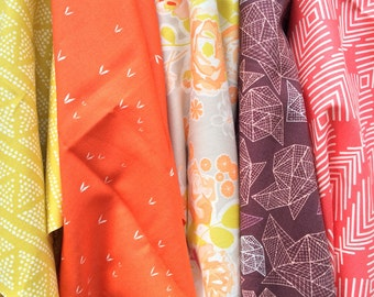 Quilting Fabric ~ 5 Fat Quarter Fabric Bundle- Autumn Blooms - Art Gallery Fabrics