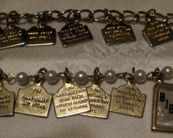 Two Child's Ten Commandments Bracelets