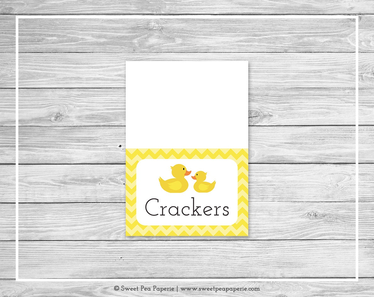 rubber ducky baby shower buffet labels printable baby shower
