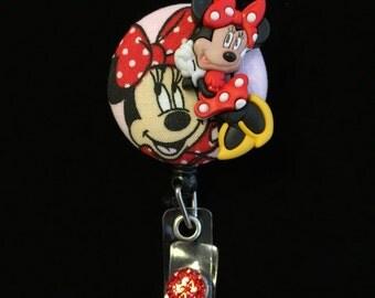 Sweet Minney Mouse-Nurse Retractable ID Badge Reel/ RN Badge Holder/Doctor Badge Reel/Nurse Badge Holder/Nursing Student Gift