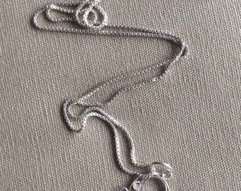 Delicate Sterling Silver Filligree Pendant with Chain