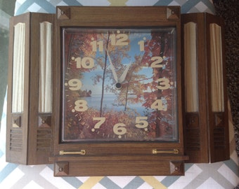 Vintage Burwood New Haven Quartz 1978 Wall Clock