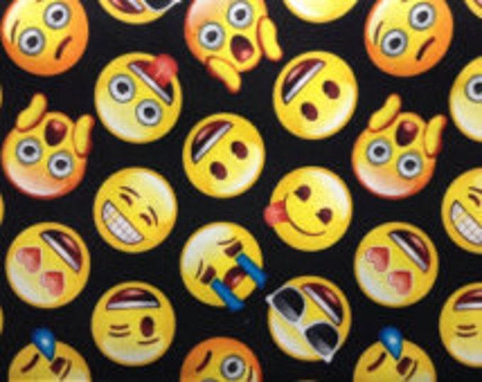 "Valance, Curtain Panel, Matching Pillow ""Emoji"""