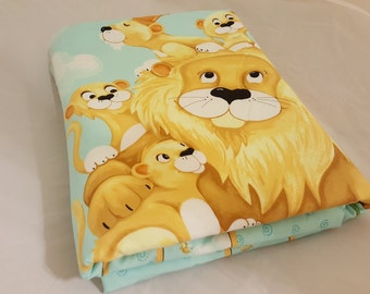 Baby Blanket - Baby Comforter - Baby Quilts - Toddler Blanket - Toddler Comforter - Toddler Quilts - Lion Family *R25*