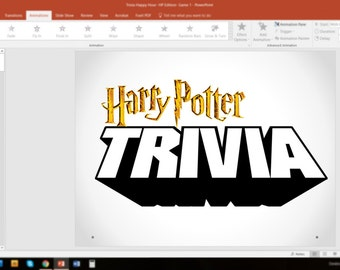 Harry Potter Trivia- GAME 1 PowerPoint (Customizable Pub-Style Trivia)