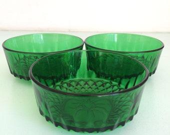 Retro glass bowls