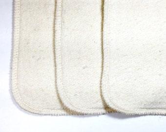 6 Organic hemp cotton fleece cloth diaper inserts, super soft, super absorbent!