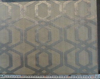 Geometric Pattern Fabric in Ash Gray Color