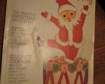 Vintage Christmas Magazine, December 1964 Good Housekeeping Magazine, Christmas Decorations, Stories, Recipes 240 pgs.