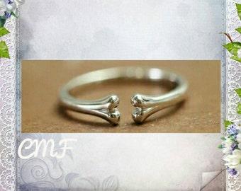 Bone Ring 925 Sterling Silver Ring Adjustable Ring