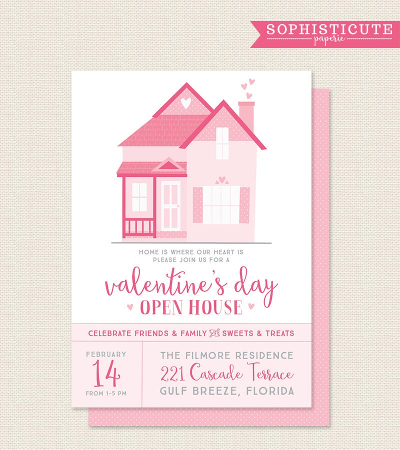 Valentine\'s Day Party Invitation Open House Party