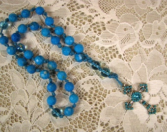 Anglican Prayer Beads-Turquoise Howlite-Knotted