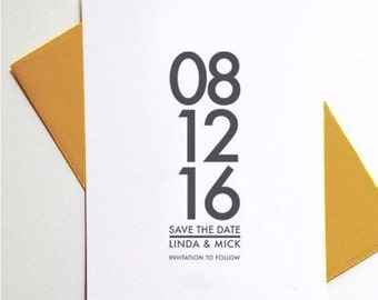 Modern Save The Date / Save The Date Wedding Invitation