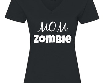 Mom Zombie, Women's Plus Size Halloween Shirt