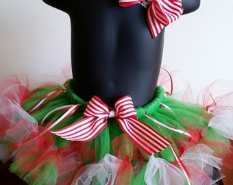 Christmas Tutu and hairbow set