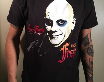 Addams family uncle Fester shirt