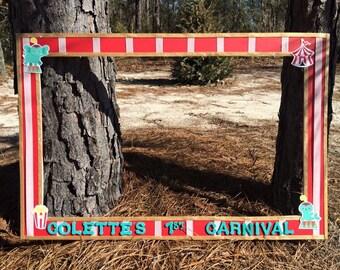 Carnival Circus photo prop frame