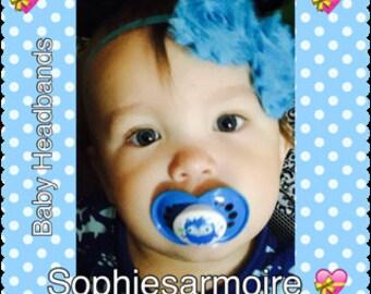 Headbands*Blue Headband*Turquoise headband*Infants headband*Newborn Headbands*Baby Headbands*